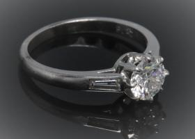Art Deco Solitaire Ring