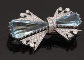 1950's Aquamarine Retro Brooch