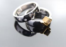 Princess cut diamond set of rings