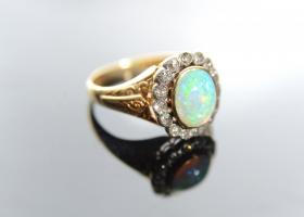 Opal cluster ring