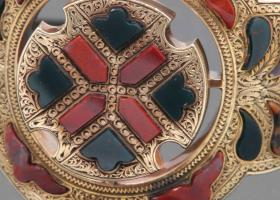 Scottish agate gold bracelet