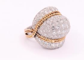 1950s Bombé Style Ring