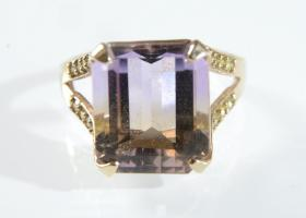 Vintage ametrine dress ring in 9kt yellow gold