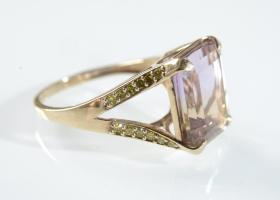 Vintage ametrine dress ring in 9kt yellow gold
