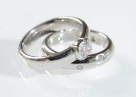 Tiffany & Co. diamond bridal set in platinum