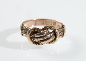 Antique 9kt rose gold knot ring