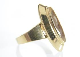 18kt yellow gold vintage citrine dress ring