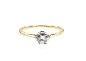 Edwardian 0.34ct diamond solitaire engagement ring