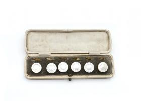 Antique mother of pearl button dress set