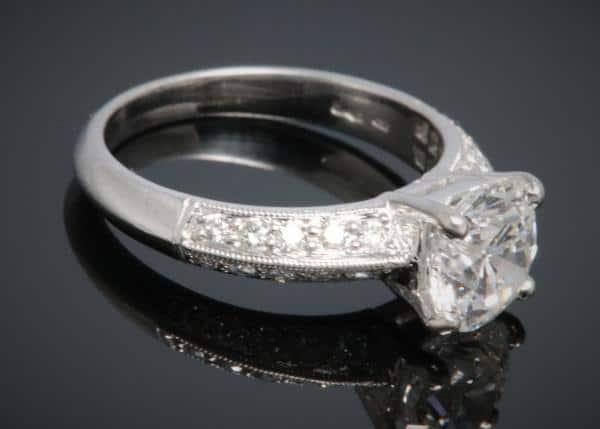2.01ct, E colour, diamond solitaire