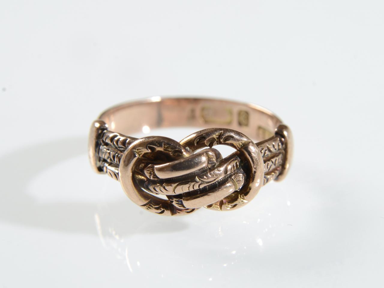 Antique 9kt Rose Gold Knot Ring