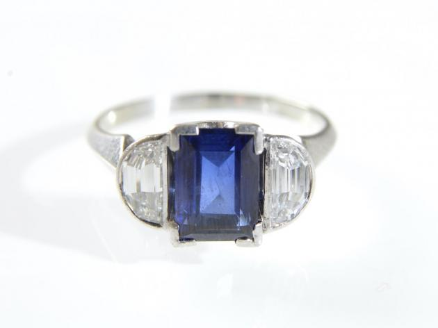 2.00ct unheated Burmese sapphire and diamond ring