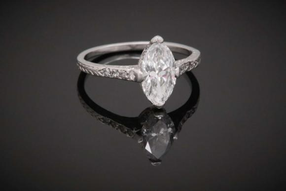 1920's Marquise Diamond Ring