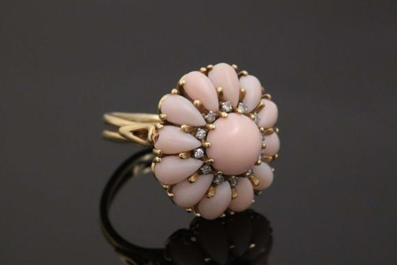 1960s Angel Skin Coral Ring