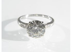 Platinum 3.03cts diamond solitaire engagement ring