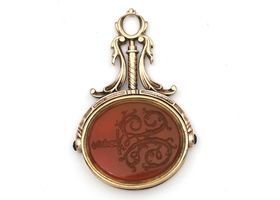 Georgian yellow gold and carnelian double sided seal fob