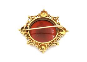 Antique French carved intaglio brooch