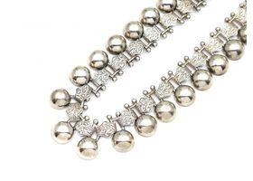 Antique silver Cleopatra collar necklace