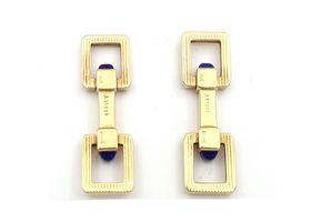 Piaget 18kt yellow gold and lapis lazuli stirrup cufflinks