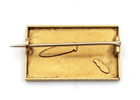 Art Nouveau ant and grasshopper 18kt yellow gold brooch
