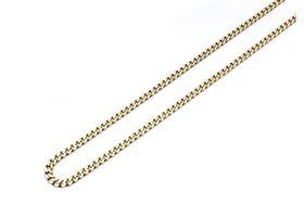 Italian 9kt yellow gold close curb chain