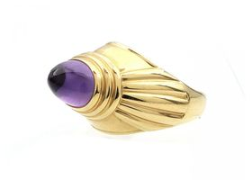 Boucheron Jaipur collection amethyst ring in 18kt yellow gold