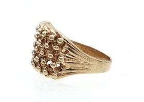 Antique chunky keeper ring in 9kt yellow ring
