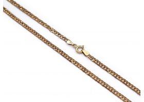 Vintage 9kt rose gold close curb chain